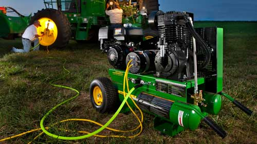 A John Deere combination unit